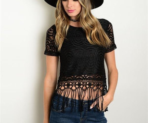 hobo and top. fringe sexy image