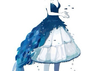 Blue Victorian Dresses Anime