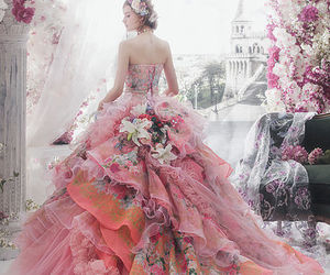 dress, fancy, and pink image