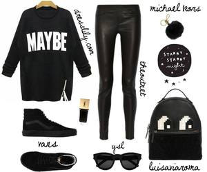 backpack, black, and outfits image