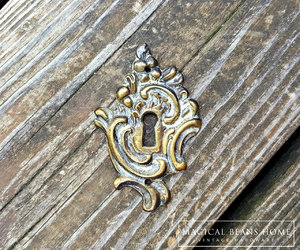 etsy, brass hardware, and keyhole plate image