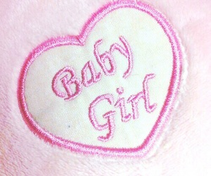 pink, heart, and baby image