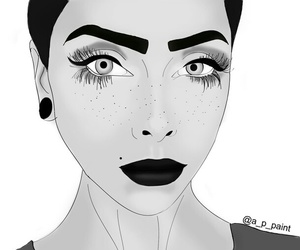 aesthetic, hipster, and makeup image