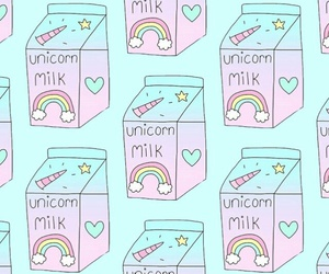 milk, unicorn, and wallapaper image
