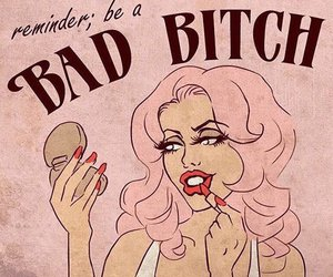 pink, bitch, and bad bitch image