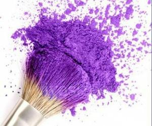 purple, makeup, and brush image