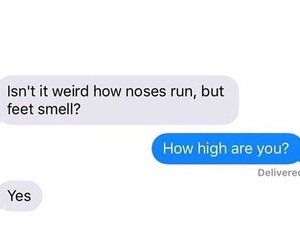 feet, funny, and high image