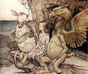 alice in wonderland, arthur rackham, and illustration image