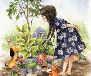 diary, dog, and garden image
