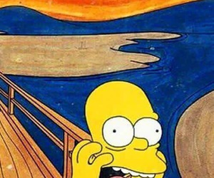 wallpaper, simpsons, and art image