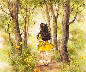 diary, forest, and girl image