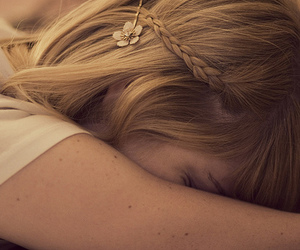 blond, flower, and bobby pin image