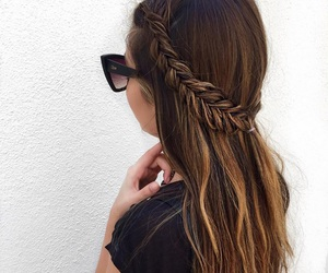 back, hair, and braid image