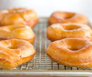 breakfast, doughnut, and food image