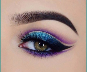 eye lashes, eyebrows, and eyeliner image