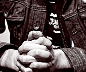 black and white, hands, and gerard way image