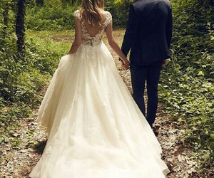 wedding, dress, and nature image