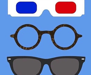 3d glasses, drawing, and eleven image