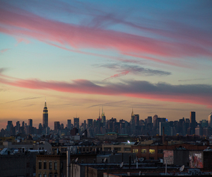 city, fotography, and sunsets image