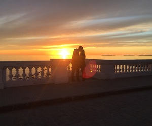 couple, you and i, and sunser image