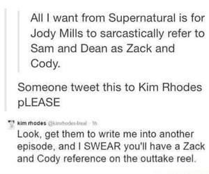 funny, supernatural, and tumblr image