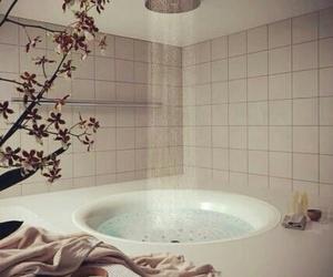 bathroom, shower, and design image