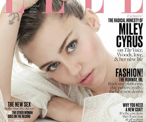 miley cyrus, Elle, and magazine image