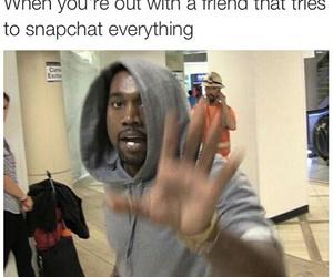 funny, snapchat, and kanye west image