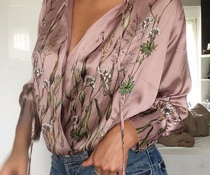 fashion, jeans, and silk image