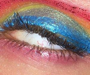 grunge, eye, and eyelashes image
