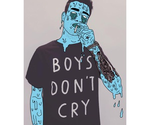 art, boys, and cry image
