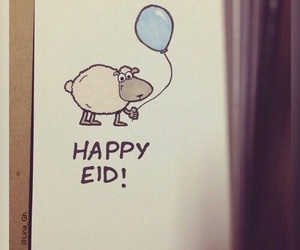 eid, happy, and muslim image