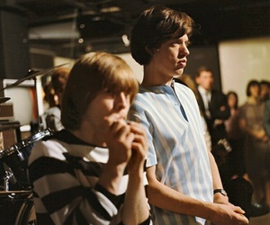 Brian Jones, mick jagger, and the rolling stones image