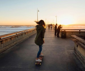 longboard and pier image