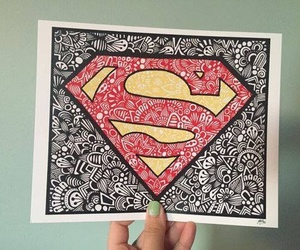 superman and drawing image