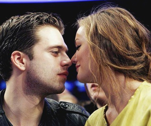 sebastian stan, leighton meester, and gossip girl image