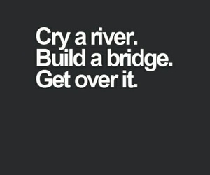 bridge, cry, and river image