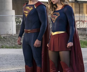 Supergirl, superman, and clark kent image