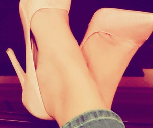 girls, highheels, and pink image