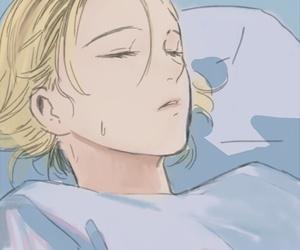 sleeping, anime boy, and cute image