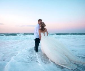 love, wedding, and wedding dress image