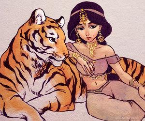 jasmine, disney, and art image