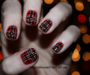 christmas and plaid image