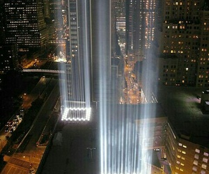 twin towers and lights image