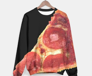 food, hoodie, and pizza image