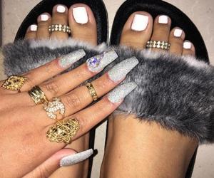 fashion, polish, and ring image