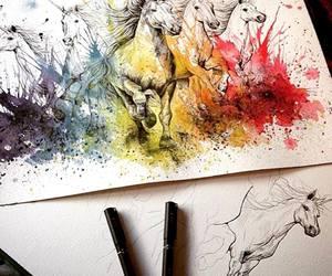 unicorn, art, and beautiful image