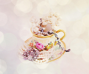 pearls, cup, and jewelry image
