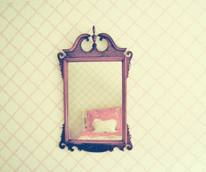 mirror, quote, and bed image