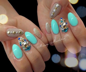 girly things, glitter, and nails image